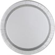 Papperstallrikar 21,9cm 8st Silver 25kr