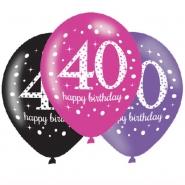 Ballonger 27,5cm 6st Pink celebration 40år 29kr