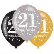 Ballonger 27,5cm 6st Gold celebration 21år 29kr