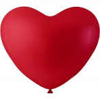 Ballonger dia.23cm 8st röda hjärtan 20kr