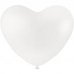 Ballonger dia.23cm 8st vita hjärtan 20kr