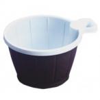 Kaffekopp av plast brunvit 50st 49kr