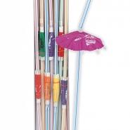 Sugrör luau med parasol 25st 21kr