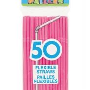 Sugrör 50st rosa 12kr