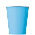 Pappersmuggar 266ml 8p Powder blue 20kr
