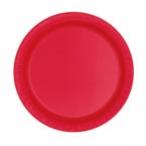 Papperstallrikar 17,1cm 8p Ruby red 19kr