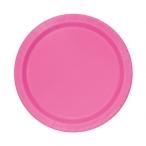 Papperstallrikar 17,1cm 20p Hot pink 29kr