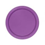 Papperstallrikar 17,1cm 8p Pretty purple 19kr