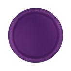 Papperstallrikar 17,1cm 8p Deep purple 19kr