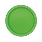 Papperstallrikar 17,1cm 8p Lime 19kr