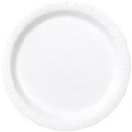 Papperstallrikar 22,9 cm 8p Bright white 25kr