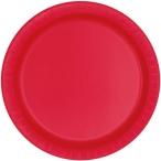 Papperstallrikar 22,9 cm 8p Ruby red 25kr