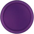 Papperstallrikar 22,9 cm 8p Deep purple 25kr