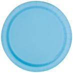 Papperstallrikar 22,9 cm 8p Powder blue 25kr