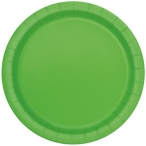 Papperstallrikar 22,9 cm 8p Lime 25kr