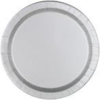 Papperstallrikar 22,9 cm 8p Silver 25kr