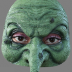 BESTÄLLNINGSVARA Latexmask Halfmask Witch öppen baksida resårband 129kr