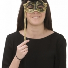 BESTÄLLNINGSVARA Mask Venetian eyemask feather black w stick 169kr