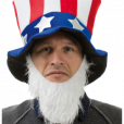 BESTÄLLNINGSVARA Uncle Sam hat with beard 79kr