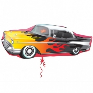 Folieballong Supershape 87,5cm Rocknroll car 69kr