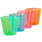 Shotglas av plast blandade färger 50st 59kr