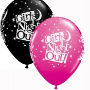 Latexballonger Girls night out svart,rosa 27,5cm 25st  125kr