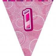 Vimpel Glitz Rosa 1år 2,74m 18kr