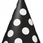 Partyhattar dots svart 8st 20kr