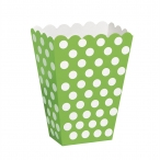Popcornbox dots lime 8st 22kr
