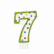 Tårtljus siffra 7 multifärg 12kr
