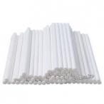 Klubbpinnar plast 15cm vita 100st 49kr