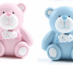 Tårtdekoration Nalle blå eller rosa 58kr st