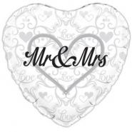 Folieballong Mr & Mrs 45cm 26kr