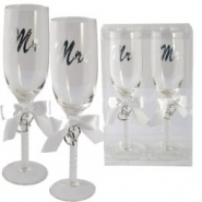 Champagneglas mr & mrs 186kr