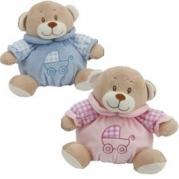 Teddy med bjällra rosa eller blå 129kr