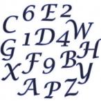 Fmm utstickare Alfabet versaler siffror kursiv 99kr