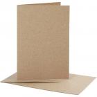 Brevkort, kortstl. 10,5x15 cm, kuvertstl. 11,5x16,5 cm, natur, 10set 55kr