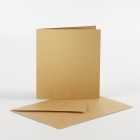 Pärlemorskort, .kortstl 10,5x15 cm, kuvertstl. 11,5x16,5 cm, guld, 10set 55kr