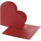 Hjärtkort, kortstl. 12,5x12,5 cm, kuvertstl. 13,5x13,5 cm, röd, 10set 55kr