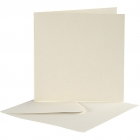 Kortstl. 12,5x12,5 cm, kuvertstl. 13,5x13,5 cm, off-white, 10set 55kr
