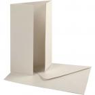 Pärlemorskort med kuvert, kortstl. 10,5x15 cm, kuvertstl. 11,5x16,5 cm, råvit, 10set, 230 g 69kr