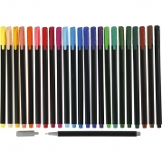 Colortime Fineliner Tusch, spets 0,6-0,7 mm, mixade färger, 24st. 110kr