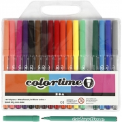 Colortime tuschpennor, spets 2 mm, mixade färger, 18st. 49kr