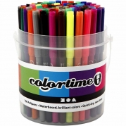 Colortime tuschpennor, spets 2 mm, mixade färger, 100st. 260kr