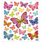 Stickers fjärilar färglad 15kr