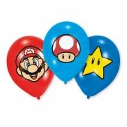 Ballonger 27,5cm 6p mario fyrfärgstryck 45kr