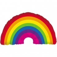 Folieballong supershape 91,5cm rainbow 85kr