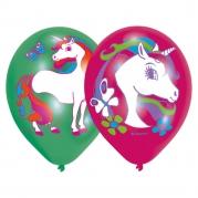 Ballonger 27,5cm 6p 4-färgstryck unicorn 39kr