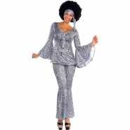 Ladies costume dancing queen 70´s scarf, trousers and shirt size M or L 519kr