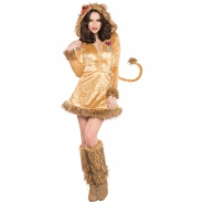 Ladies costume lioness dress and legwarmers size M or  L 549kr